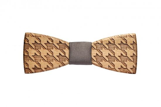 BeWooden - Elegancka drewniana muszka Lynx