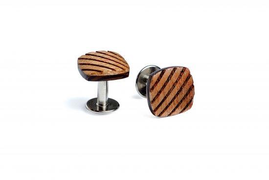 BeWooden - Eleganckie drewniane spinki do mankietów Sull