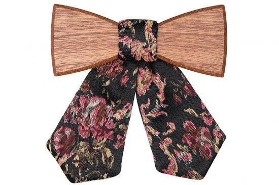 Elegancka drewniana muszka Rosis