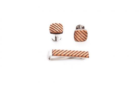 Drewniane dodatki dla mężczyzn