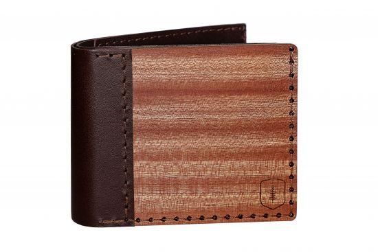 BeWooden - Elegancki drewniany portfel Red Virilia