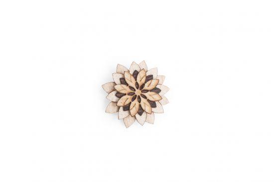 BeWooden - Ozdoba do butonierki Bellis Flower dla mężczyzny