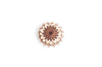 BeWooden - Ozdoba do butonierki Cubo Flower dla mężczyzny
