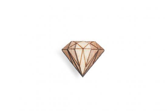 BeWooden - Ozdoba do butonierki Diamond Lapel dla mężczyzny