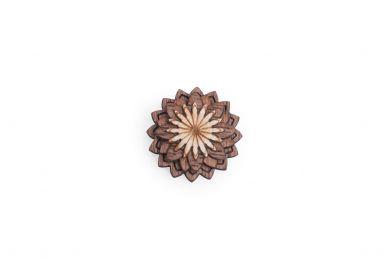 BeWooden - Ozdoba do butonierki Lynx Flower dla mężczyzny