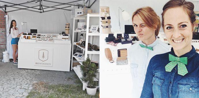Stoisko BeWooden z drewnianymi dodatkami na festiwalu Colours of Ostrava