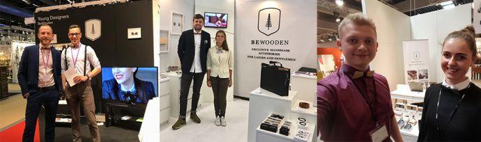 Stoiska BeWooden z drewnianymi dodatkami w Berlinie, Sztokholmie i Paryżu