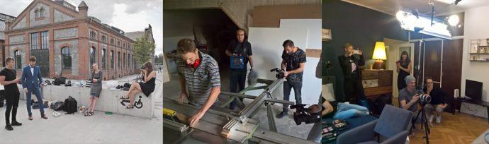 Kolaż z fotografii z sesji zdjęciowej nowych produktów BeWooden