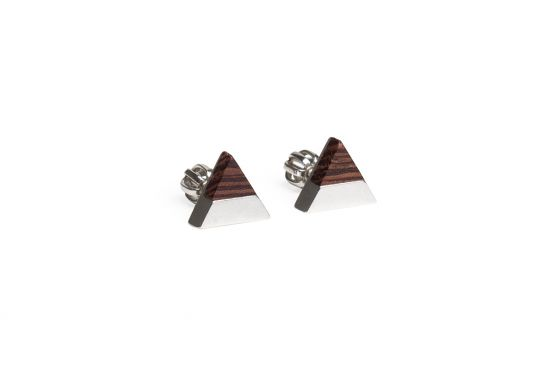 BeWooden - 0 Deco earrings triangle