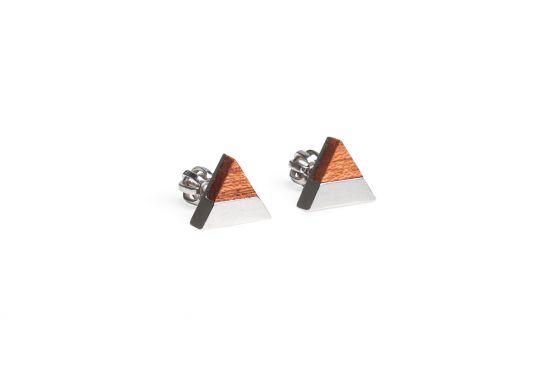 BeWooden - 0 Rubi earrings triangle