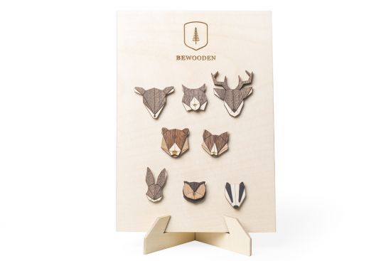 BeWooden - 0 Brooches Stand – natural