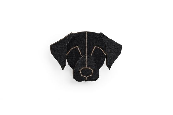 BeWooden - Black Labrador Brooch