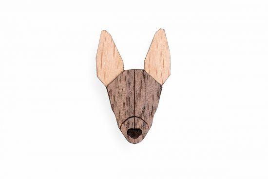 BeWooden - 0 Peruvian Hairless Dog Brooch