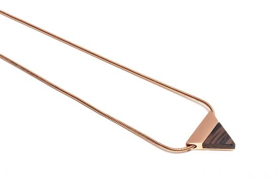 BeWooden - Rose Necklace Triangle
