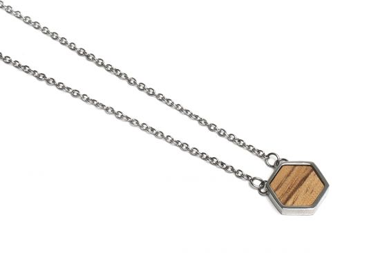 BeWooden - Lini Necklace Hexagon