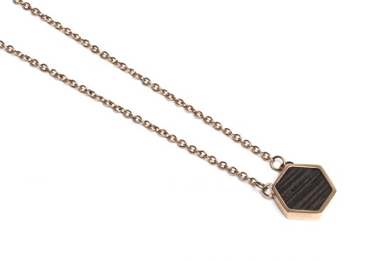 Rose Necklace Hexagon