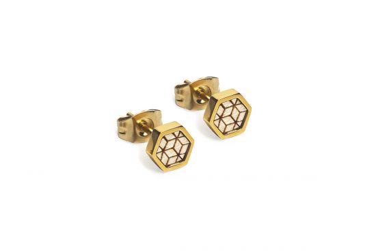 Virie Earrings Hexagon