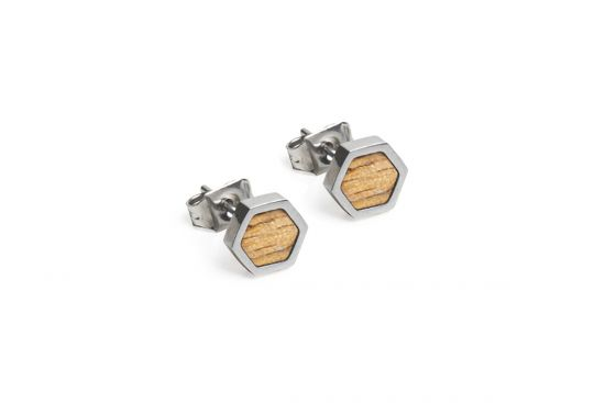BeWooden - Lini Earrings Hexagon