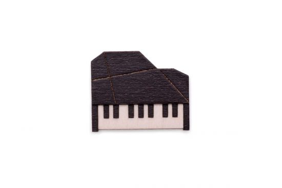 BeWooden - Piano brooch