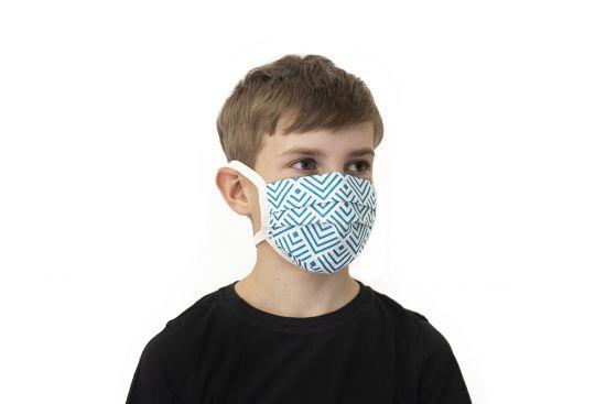 BeWooden - Blue kids mask model