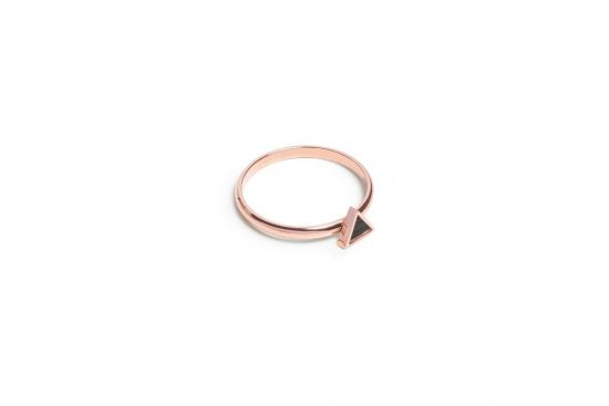 BeWooden - Rose Triangle Ring