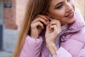 Bright earrings rectangle