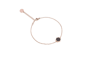 Rose Hexagon Bracelet