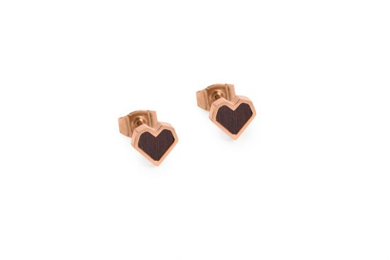 Rose Earrings Heart